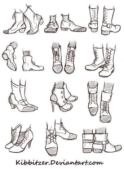 I can never satisfactorily draw shoes