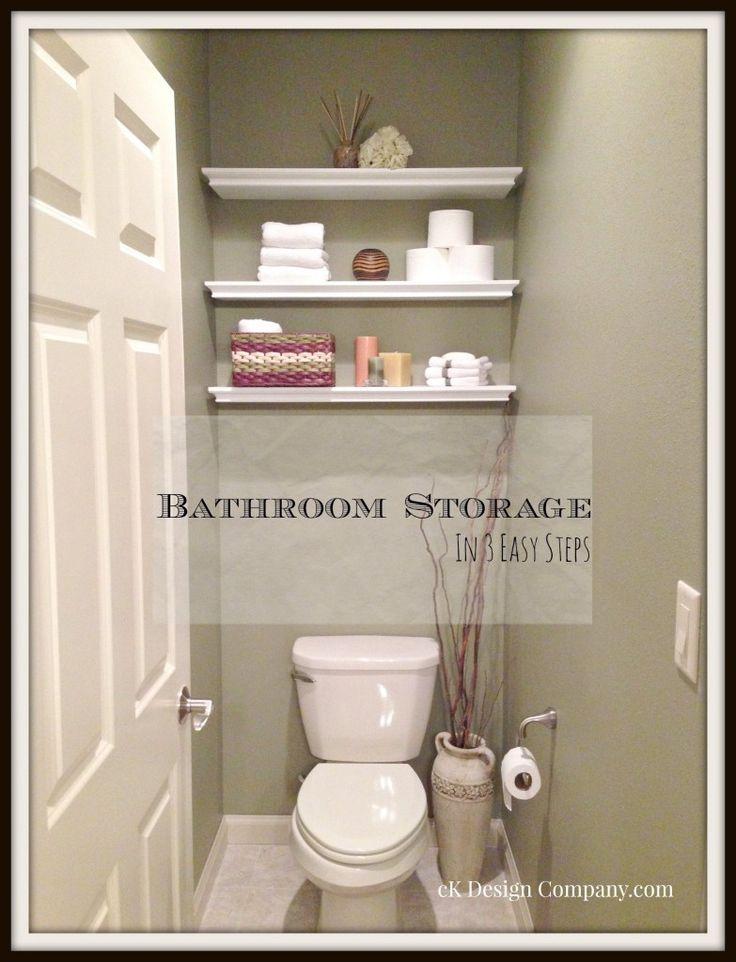 {Bathroom Storage Shelves in 3 Easy Steps} Week 2