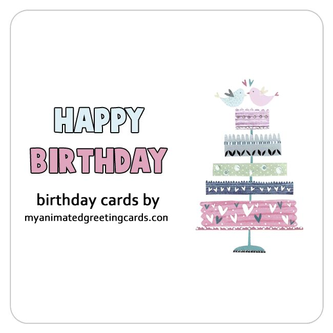 My animated greeting cards for Facebook - created to share on social media sites, Lovely animated birthday cards. #HappyBirthday #BirthdayWishes
