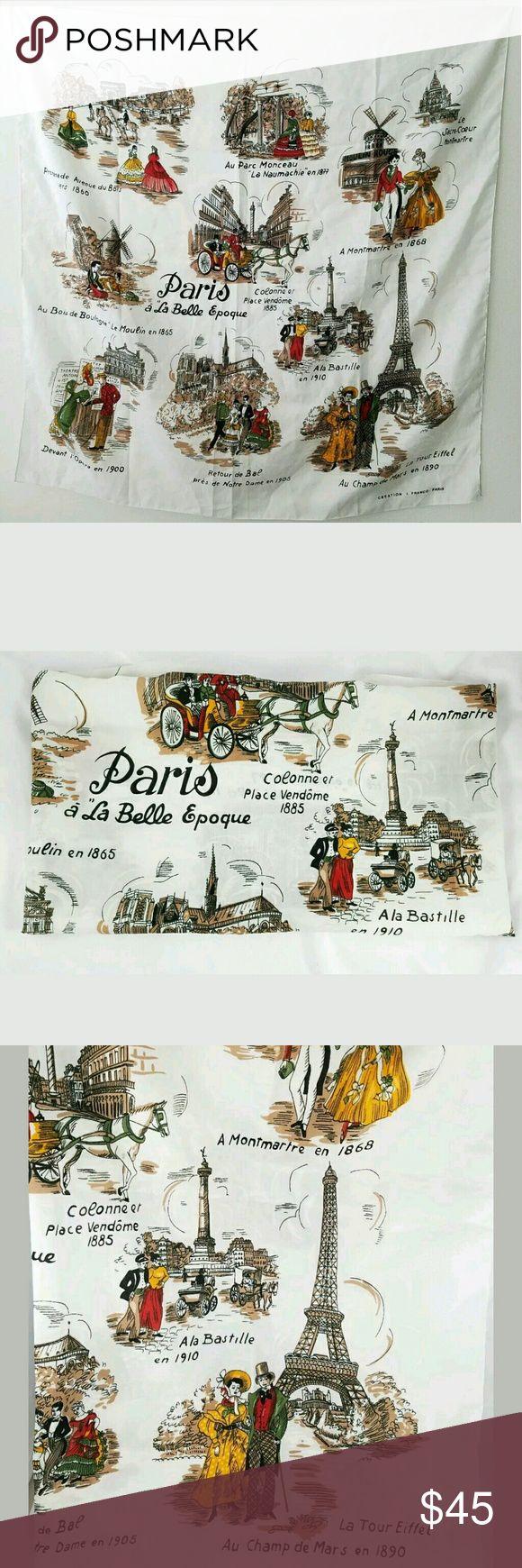 Vintage paris a la belle epoque scarf by j franco
