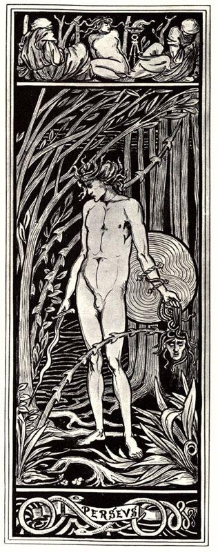 "Aubrey Beardsley ""Perseus"" Modern"