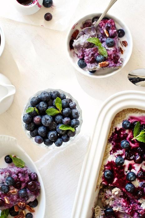 Blueberry-Coconut Baked Steel Cut Oatmeal: Vegan + Gluten Free  Healthy Breakfast, Brunch & Snack