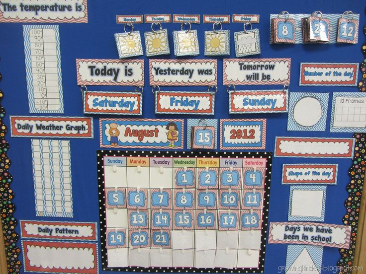 Kindergarten Calendar Math Ideas : Need to find address she has lots of good ideas