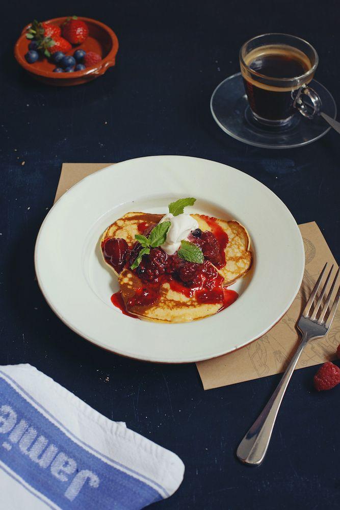 Завтрак в Jamie's Italian #food #breakfast #jamiesitalian #jamieoliver #yummy #morning #fresh #pancakes