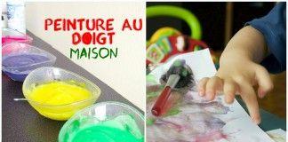 Activité sensorielle: peinture au doigt fait maison