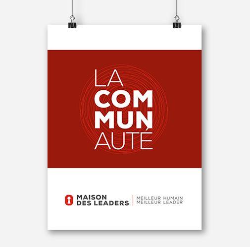 Maison des leaders / Affiche promotionnelle / Beez Créativité Média