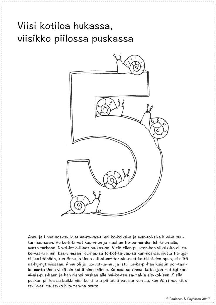 Numero 5 tarina ja värityskuva