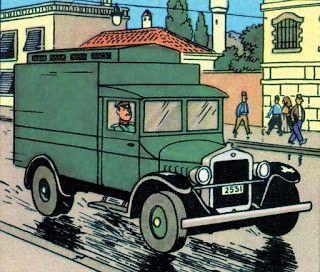 maquette camion transport prisonnier Tintin Sceptre d'Ottokar