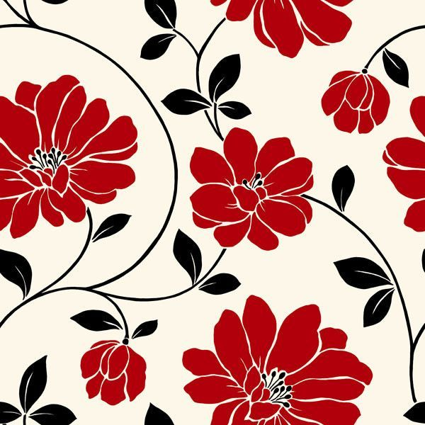"Mega Flowers 33' x 20.5"" Prepasted Wallpaper"