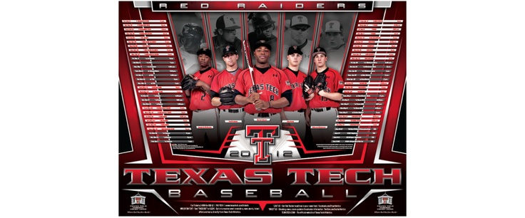 Texas Tech Baseball Poster 2012 | Old Hat Creative