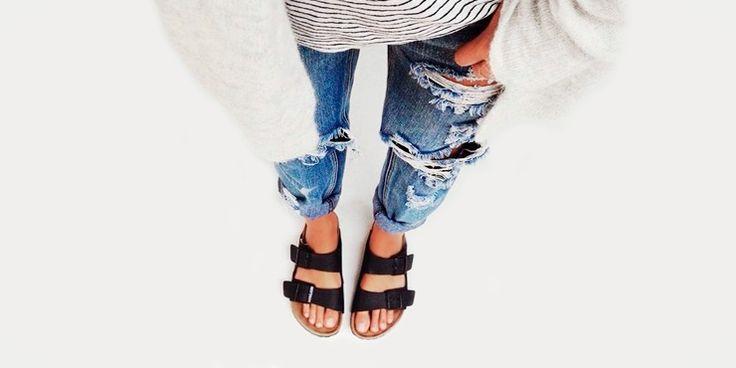 Ideas para usar tus sandalias con pantalones