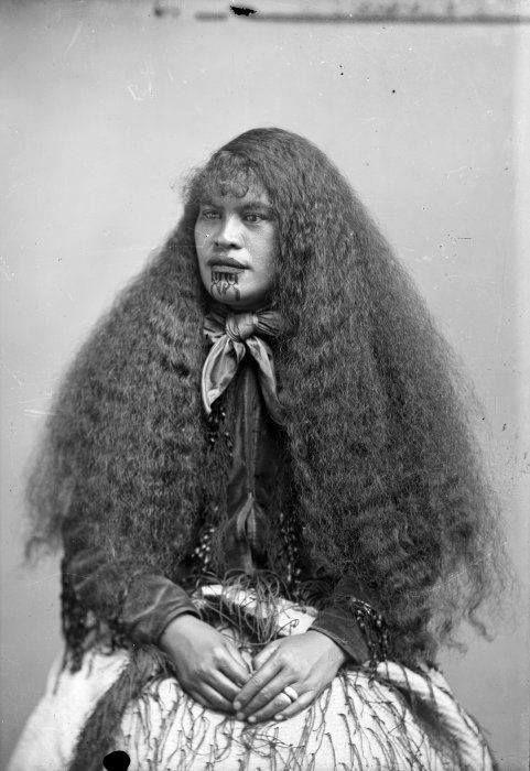 """viliere: """" Portrait of a Maori woman, 1890 """""""