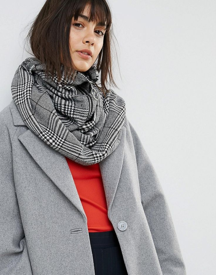 Short Zip Up Snood - Grey Asos QfUavp