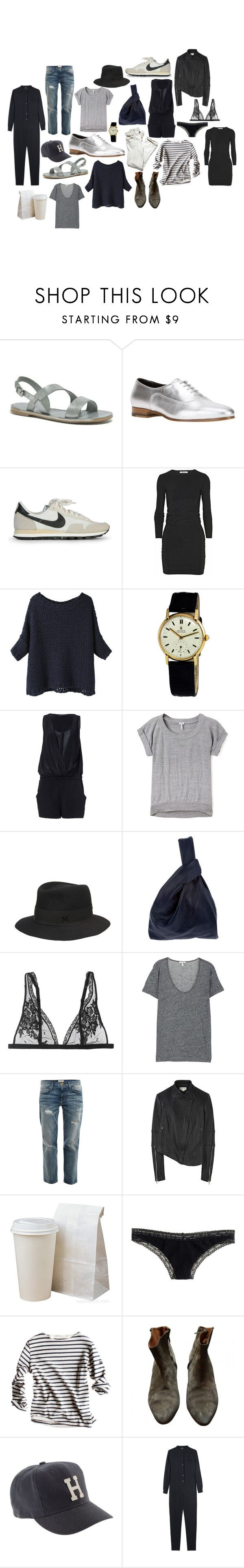 """""""lately."""" by coffeestainedcashmere ❤ liked on Polyvore featuring Madewell, Yves Saint Laurent, NIKE, T By Alexander Wang, BLACK CRANE, Rolex, Zara, Splendid, Maison Michel and Jil Sander"""