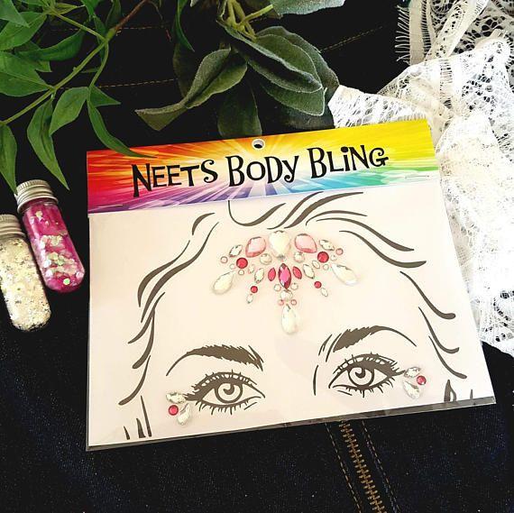 Tessa  festival body bling queen party sparkle gem cluster