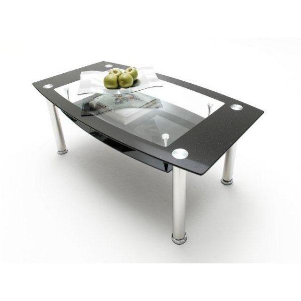 Tavolini in vetro da caffè, in vetro temperato e metallo cromato.  Realizzati con un design elegante e moderno, adattabili all'arredamento di qualsiasi ambiente.  49,90 €  PREZZO SCONTATO IVA INCLUSA