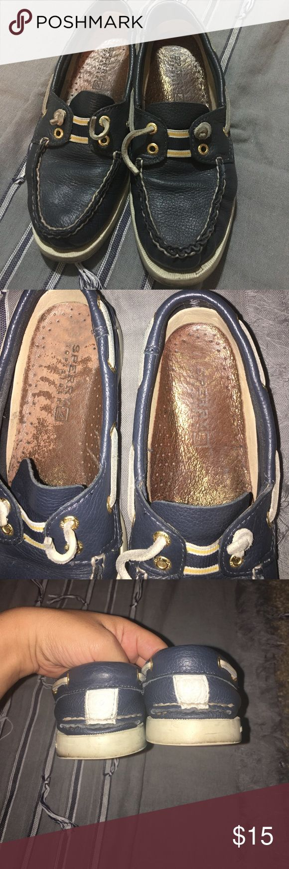 Sperry Top-Sider Used Blue Sperry Top Sider. These used to be my favorite shoes but I need to clean out my closet so I have to let them go. They're in good condition and have a lot of life left. Perfect for everyday shoes. Sperry Top-Sider Shoes Flats & Loafers