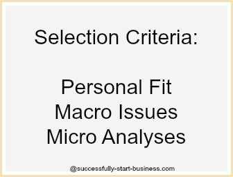 Here are some selection criteria for the best small business to start  - http://www.successfully-start-business.com/best-small-business-to-start.html