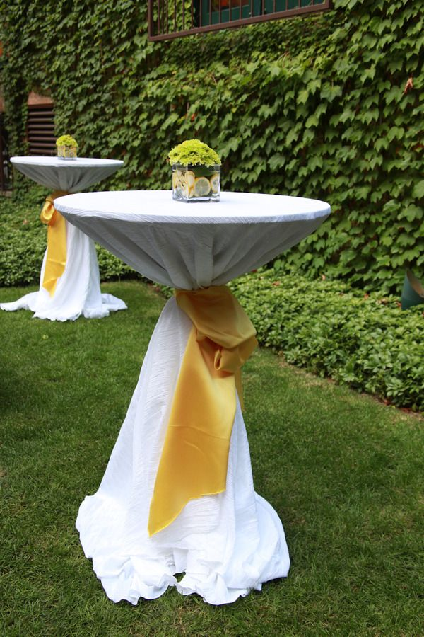 Use Chair Ties To Gather Cocktail Table Linen Amp Tie Pretty