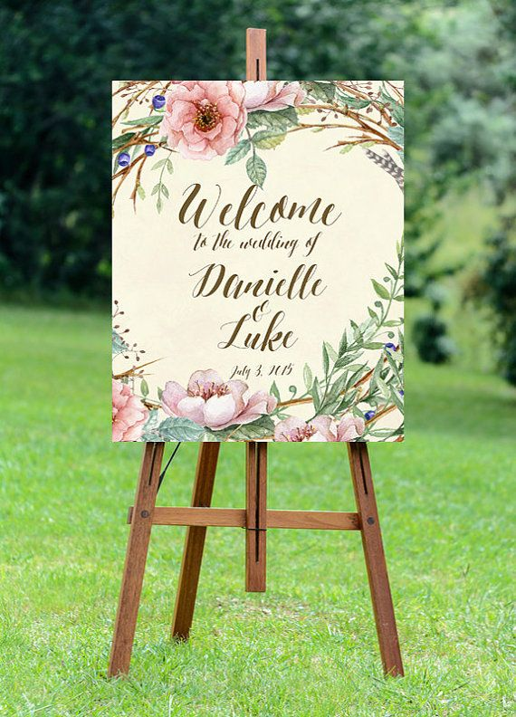 printable ivory wedding sign welcome wedding by OurFriendsEclectic