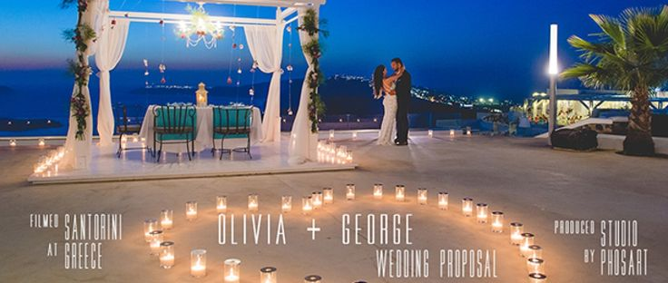 And the fairy tale begins for George and Olivia...A truly romantic and unique proposal idea. Santorini Greece . #photography #cinematography by Studio Phosart team