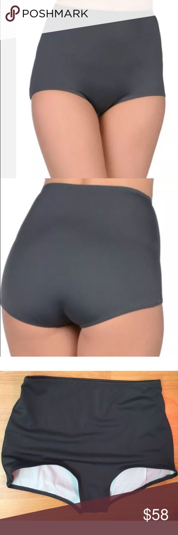Norma Kamali High Waist Gray Bikini Bottom Cute and simple high waist gray bikini bottoms by Norma Kamali. Worn once on a TV set. Dry cleaned and sanitized and ready to wear.  In very good pre owned condition.   #1231816 Norma Kamali Swim