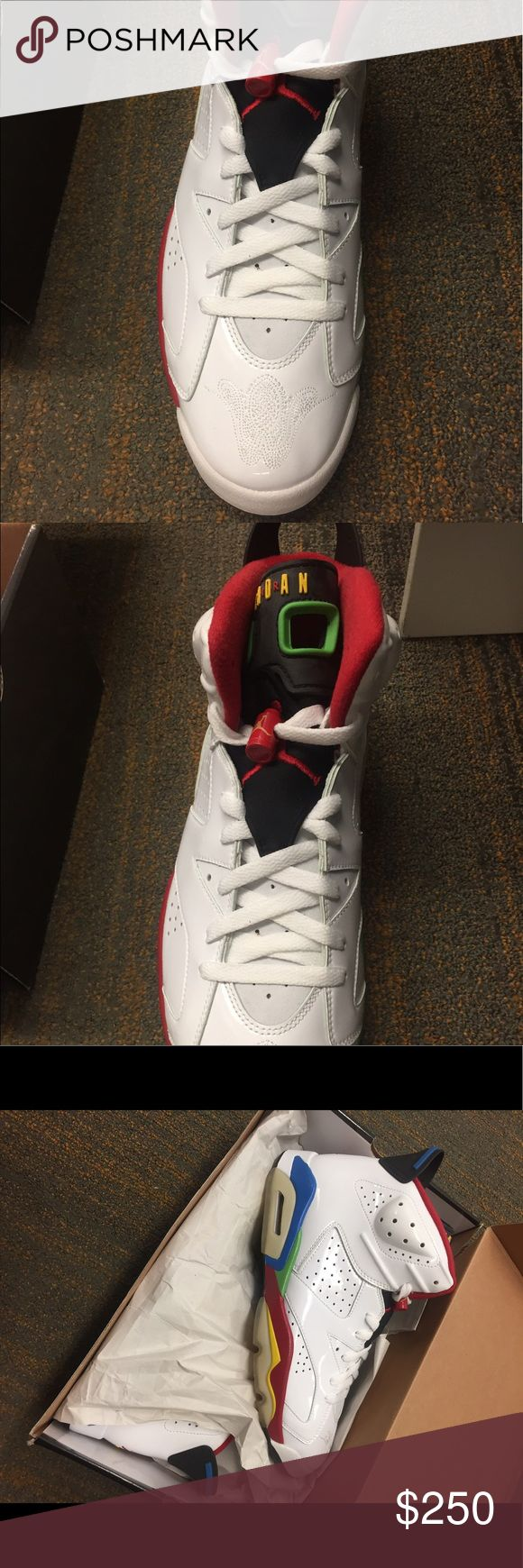 Jordan Olympic 6 white-varsity red-grn-bl Sold in 2008. Never worn. New in box. Size 10.5. Jordan Shoes Athletic Shoes