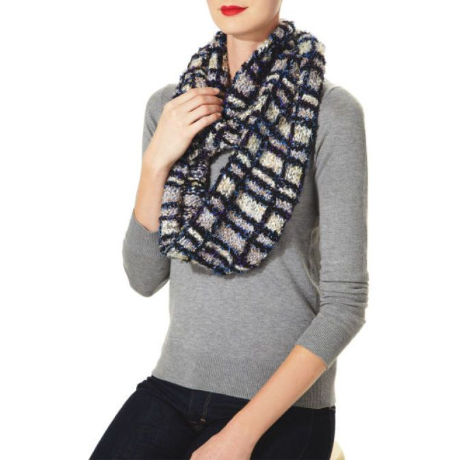 Isaac Mizrahi® Craft™ Carnegie Hill Classic Knit Plaid Scarf - This beautiful knit scarf designed by Isaac Mizrahi will keep you warm all winter. The layered colors of our Isaac Mizrahi® Craft™ Carnegie Hill Yarn are perfect for this classic neck piece