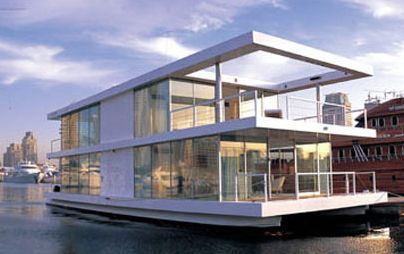 modern 2 story house boat floating cabin pinterest boats modern