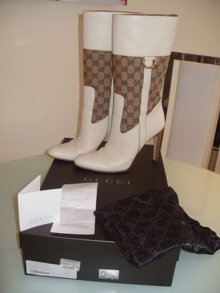STUNNING 100% AUTHENTIC GUCCI 3/4 LENGTH BOOTS. THEY ARE A SIZE 40 UK SIZE 7 BUT ALL DESIGNERS VARY IN SIZES AND ALSO THE DESIGN OF SHOES AND BOOTS VARY. NUMBER INSIDE THE BOOTS IS 154969 40C. I BOUGHT THESE BOOTS FROM HARVEY NICHOLS IN LONDON. | eBay!