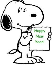 Snoopy wishes everyone reading this, A Happy New Year!