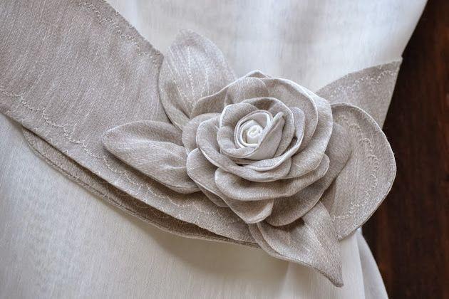 Ambrasse in lino con rose