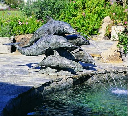 Dolphin Statues And Bronze Fountains Go Hand In Hand, Donu0027t They!