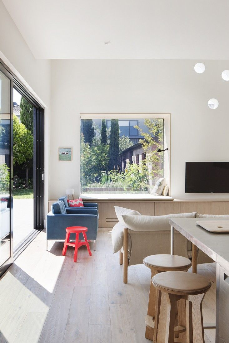 St Kilda East House, a remodel by Claire Cousins Architects | Remodelista window seat