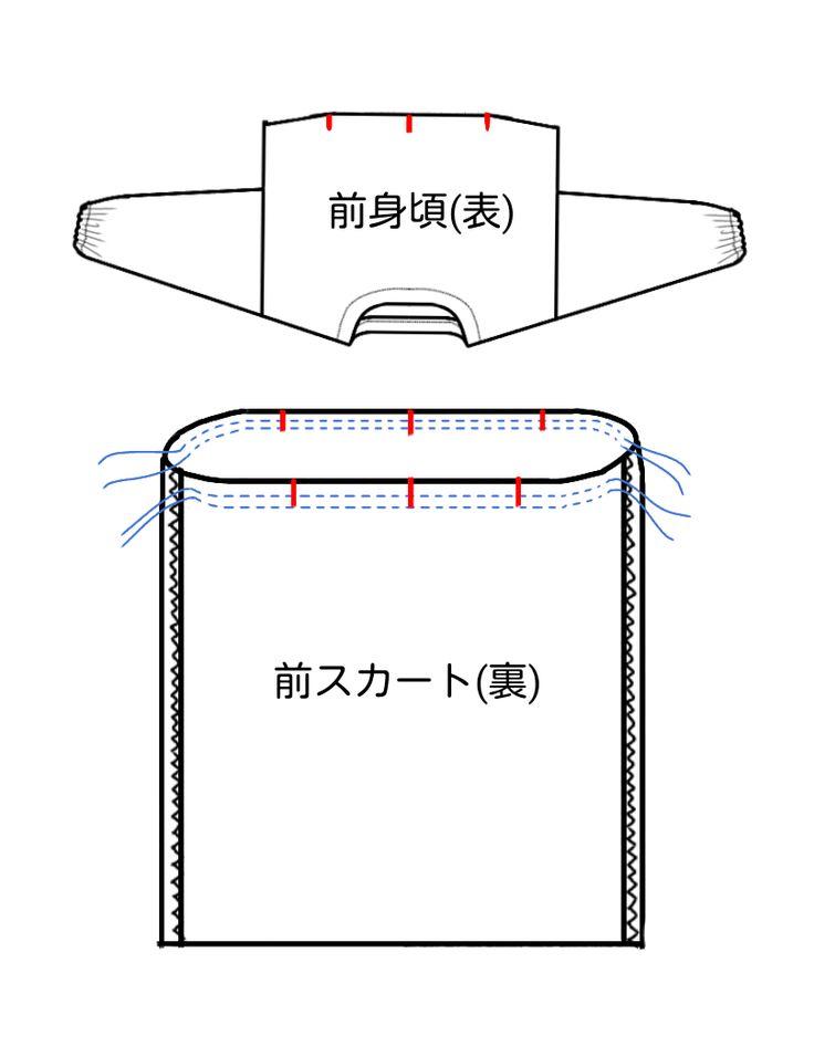 ナチュラルなワンピースの無料型紙と作り方 秋冬から春におすすめの七分袖のナチュラルなワンピースです。襟ぐり以外は全て直線なので、見た目よりとても簡単です。 スカートも袖も直線!とても作りやすいです。 袖口はゴムを通してふんわりとさせています。  ...