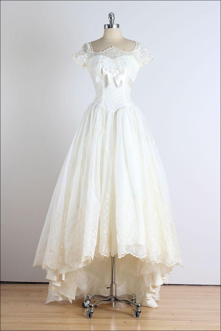 792 best style vintage historical images on pinterest for Vintage 1950s wedding dress