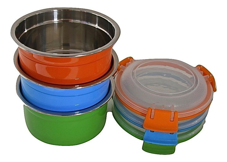 12 oz set of 3 20 amazonsmile steelware snap seal leakproof stainless steel lunch box containers and food storage snack containers for kids and adults