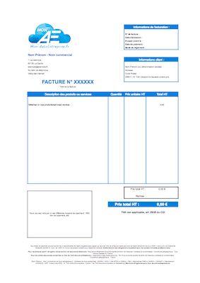 Modèle de facture auto-entrepreneur gratuit à télécharger ...