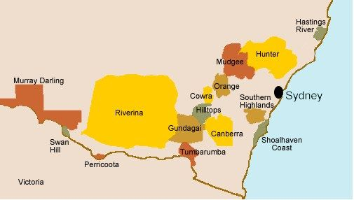 New South Wales | Wine Library | Australian Wine | Regions - labelwines.com