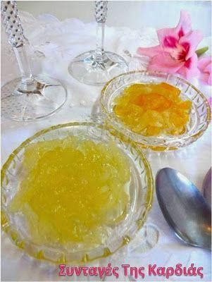 ΣΥΝΤΑΓΕΣ ΤΗΣ ΚΑΡΔΙΑΣ: Γλυκό κουταλιού λεμόνι με ανθόνερο