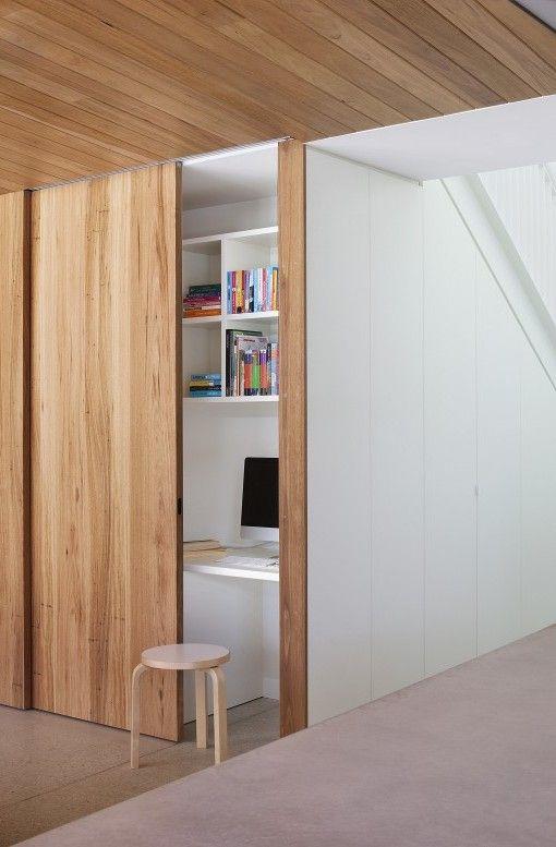 Discreet sliding door tracks. Hertford Street House   Clare Cousins Architects