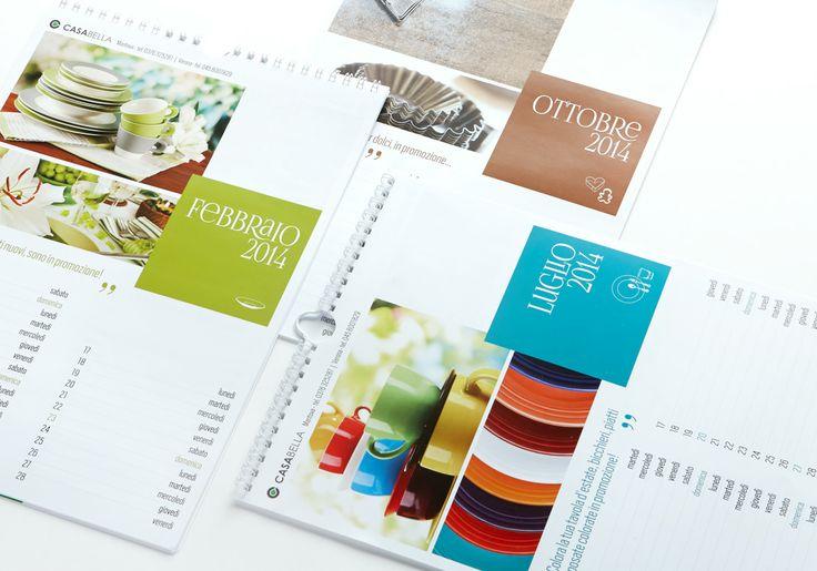 Calendario annuale con immagine prodotti e promozioni del punto vendita.