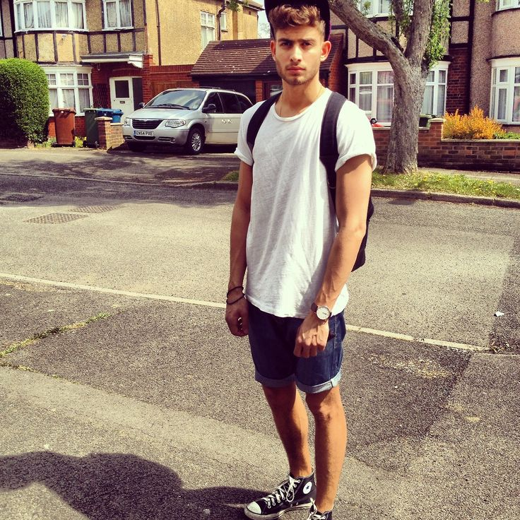 cant go wrong with a white t, jean shorts, and some converse! Pretty much my go to, everyday outfit!