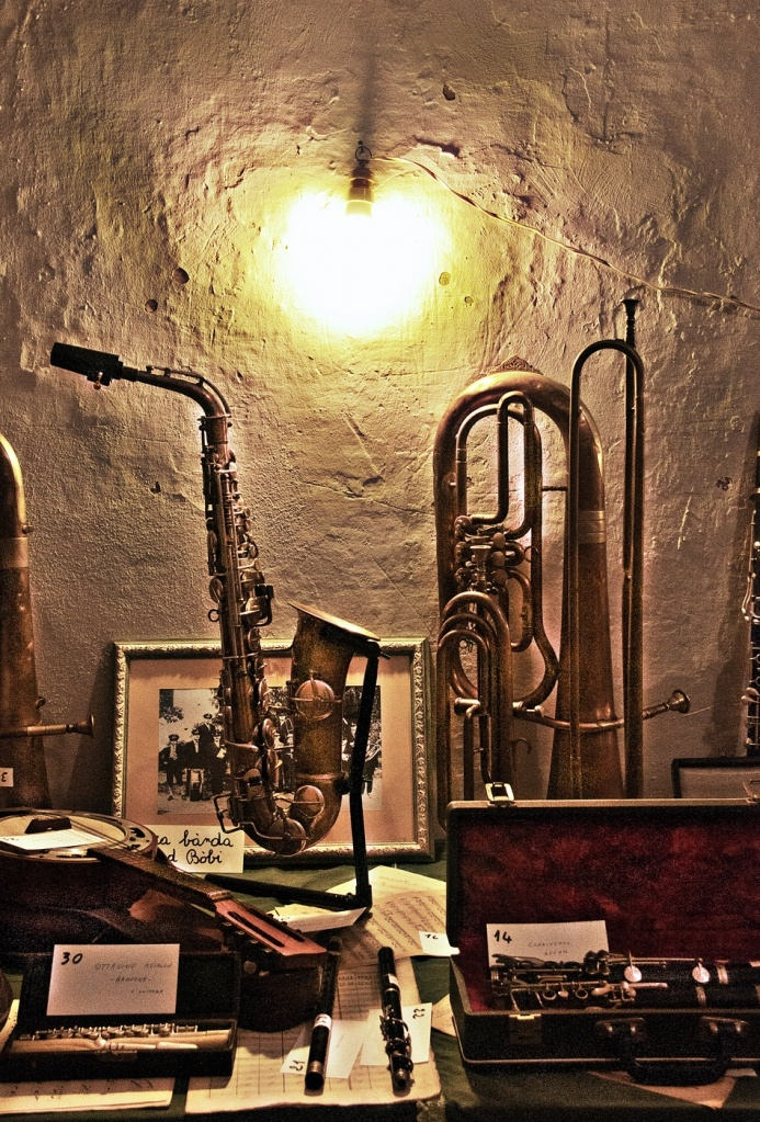 ...old wind instruments