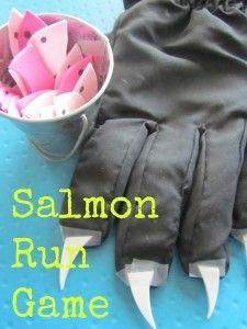 Fun fine motor activity for kids.  Disney's Brother Bear salmon run game.