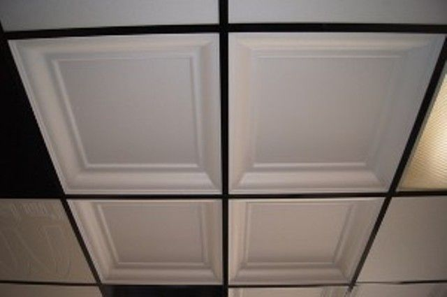 1000 ideas about drop ceiling tiles on pinterest for Foam coffered ceiling
