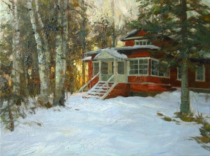 Landscape painting,contemporary Russian artist,oil painting (7)