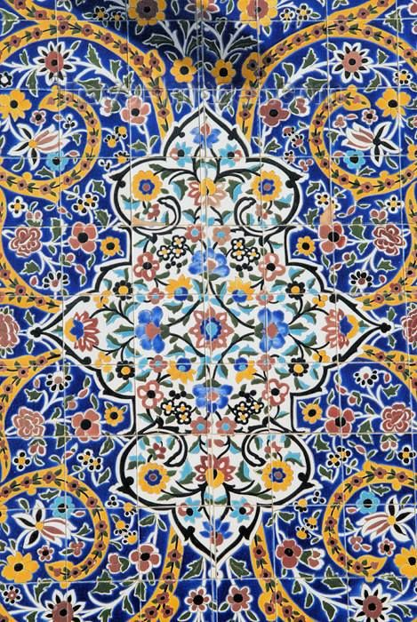 Tile in the Tehran Bazaar