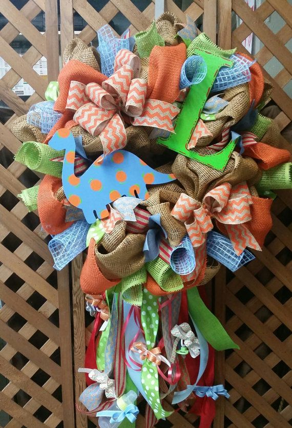 435 Best Images About Babies And Kids Deco Mesh Wreaths On