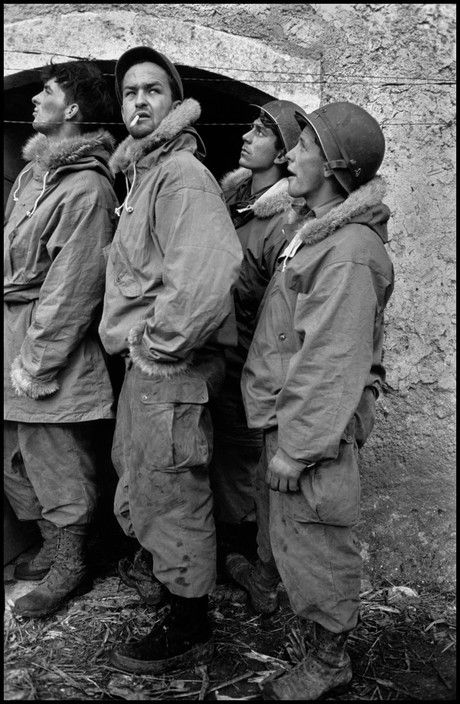 ITALY. 1944. Troops of the US/Canadian First Special Service Force. The FSSF was a multi-national unit trained in mountain warfare.